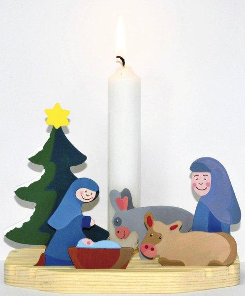 Kerzenhalter Weihnachten.Kerzenhalter Krippe Weihnachten