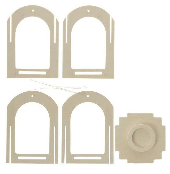 Laterne Holz Stecksystem Avantgarde ~ Laternen Bausatz aus Holz