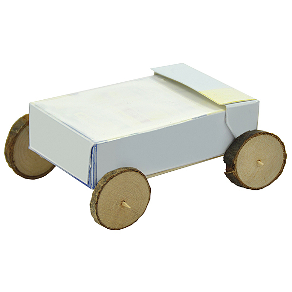 Naturholzscheibenauto